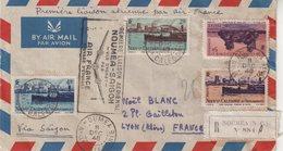 """NOUVELLE - CALEDONIE : PA . REC . """" NOUMEA , SAIGON PARIS . 1948 . - Nouvelle-Calédonie"""