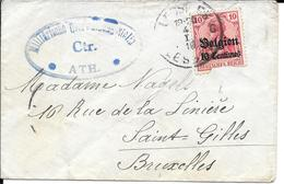 Lettre Belgique Ath 1916  Censure  Censor Geoffnet Examiner Censura War - Marcophilie (Lettres)