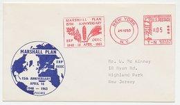 Meter Cover USA 1963 Marshall Plan 15th Anniversary - Maize - Grain - Non Classificati