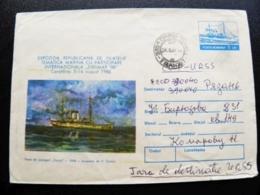 Cover Romania Postal Stationery Ship Dacia Exfimar 88 - Cartas