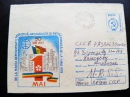 Cover Romania Postal Stationery 1st May - Cartas