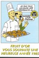 RARE CARTE POSTALE TINTIN PUBLICITE FRUIT D'OR Numérotée - Cartes Postales