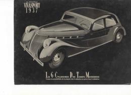610  PUBLICITÉ  ANCIENNE BROCHURE RENAULT VIVASPORT  1937   Voiture  6 Cylindres Des Temps Modernes - Voitures