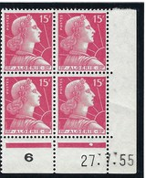 Algérie - Thématique Marianne De Muller - N° 329a ** En Bloc De 4 - TTB - Neuf - Coin Daté - - Algerije (1962-...)