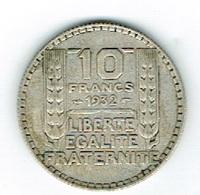 France 10Fr Argent 1932 - Belgien