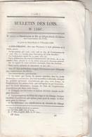 Bulletin Des Lois 1166 De 1844 Conservateurs Des Forêts, Crédit Pour Achat Tabacs, Douanes Canari Corse - Décrets & Lois