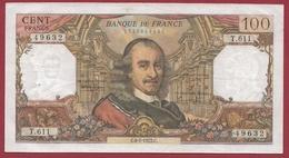 """100 Francs """"Corneille"""" Du 06/01/1972.C---F/TTB+---ALPH.T-611 - 1962-1997 ''Francs''"""