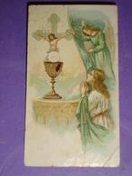 S.Pasqua Anno 1928 PONDERANO,Biella Parroc.S.Lorenzo.Mercando D.Elmo Prevosto/cromolitografia Santino Antico - Images Religieuses
