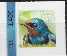 ESTONIA, 2019, MNH, BIRDS, ESSEN STAMP EXHIBITION, 1v S/A - Altri