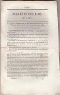 Bulletin Des Lois 1167 1844 Brevets Invention Dont Roussel Système  Locomotion Sur Chemin De Fer Pression Atmosphérique - Décrets & Lois