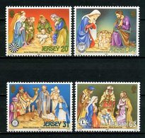 JERSEY 1998 N° 861/864 ** Neufs MNH Superbes C 7 € Noël Christmas Crèches Place Royale Lions Club Eglises Marché - Jersey