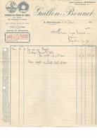 FACTURE ILLUSTREE -POMMES DE TERRE EN GROS - GUILLON - BONNET A SEYCHALLES -PUY DE DOME -1914 - Agriculture