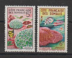 Cote Des Somalis 1963 Faune Corallienne 316-17 2 Val Neuf ** MNH - Französich-Somaliküste (1894-1967)