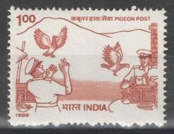 Inde - YT 1041 ** MNH - 1989 - Colombophilie Et Poste - Neufs