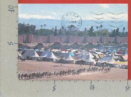 CARTOLINA VG MAROCCO - MARRAKECH - Remparts Et Tentes Caidales - 10 X 15 - 1989 - Marrakech