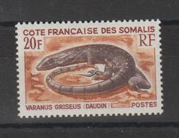 Cote Des Somalis 1967 Varan 328 1 Val Neuf ** MNH - Französich-Somaliküste (1894-1967)
