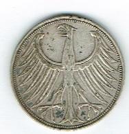 Allemagne 5 Mark 1951 G Argent - Deutschland