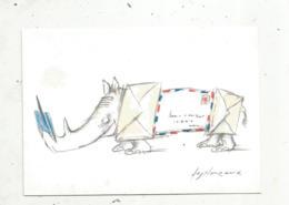 Cp, LA POSTE ,illustateur : DESCLOZEAUX ,série De 16 Cartes ,n° 3,1988 ,vierge, Ed. PTT Cartophilie - Postal Services