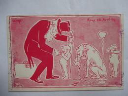 ROME  28  AVRIL  1904  ....  DEPART        ILL.  GRIM       TTB - Satiriques