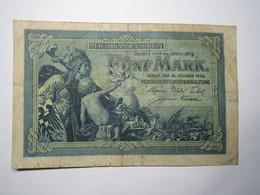 BILLET 5 MARK ALLEMAGNE 1904 - [ 2] 1871-1918 : Impero Tedesco