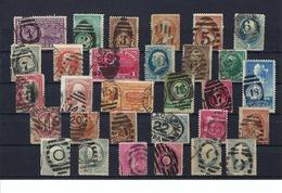 USA : Lot De Timbres Oblitérations 'chiffres' - 1847-99 Unionsausgaben