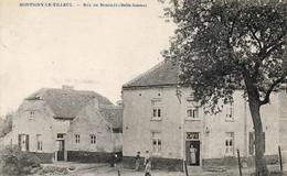 VUE RARE! MONTIGNY-LE-TILLEUL. Rue De Bomerée. Café. Prés De Landelies Et Jamioulx. Postée 1921 - Montigny-le-Tilleul
