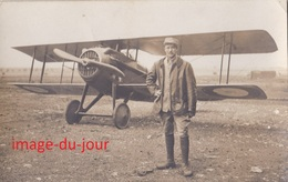 CARTE PHOTO  AVION A IDENTIFIER GUERRE 1914 1918  AVIATEUR AVIATION  WWI - Aviation