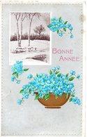 CPA  -  Embossée Ou Gaufrée   - Pont Et Bosquet Sous La Neige-   écrite - - Fancy Cards