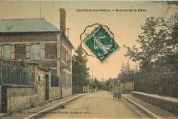 JONCHERY-SUR-VESLE AVENUE DE LA GARE CARTE TOILEE 51 MARNE - Jonchery-sur-Vesle