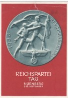 Deutsches Reich Propaganda Postkarte 1938 Reichsparteitag (Kleine Beschadigung) - Briefe U. Dokumente