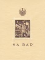 KROATIEN, 1944, 166 Block 7, Staatlicher Arbeitsdienst. MNH **, - Croatia
