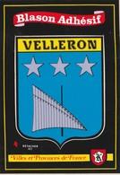 CPSM 84  VELLERON  BLASON ADHESIF - Non Classés