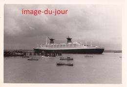PHOTO ANCIENNE  LE PAQUEBOT FRANCE ( Bateau Boat ) - Barcos