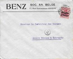 Lettre Belgique Anvers 1915 Censure  Censor Geoffnet Examiner Censura War - Marcophilie (Lettres)