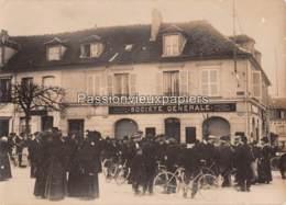 PHOTO De PRESSE ALLEMANDE  CHANTILLY 1912 SOCIETE GENERALE CAMBRIOLAGE BANDE A BONNOT ATTROUPEMENT - Chantilly