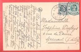 CP NEUFCHATEAU Rue D'Arlon Rue Papier Billeaux Pub Chocolat Cacao KWATTA Obl étoiles LONGLIER 28 V 1926 Vers SPRIMONT - Cachets à étoiles