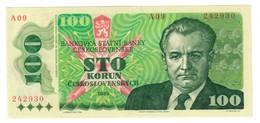 CZECHOSLOVAKIA100KORUN1989P97UNC-.CV. - Cecoslovacchia