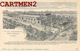 REIMS PUBLICITE LITHOGRAPHIE 1900 CAVE DE LA MAISON LEON CHANDON CHAMPAGNE EMBALLAGE 51 MARNE - Reims