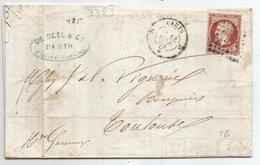 """- SEINE - PARIS - Losange Bureau """"D"""" S/TPND N°17A Grand Logement+Càd T.15 - 1869 - 1853-1860 Napoleon III"""