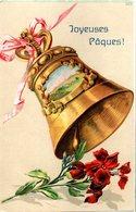 CPA  -  Embossée Ou Gaufrée  -  Joyeuses Paques , Cloche-   écrite - - Autres