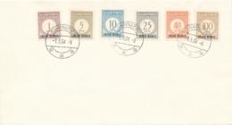 Irian Barat - 1e Uitgifte Porto, 6 Zegels Compleet Op Enveloppe Sukarnapura - Geen Adres - Netherlands New Guinea