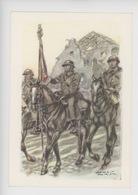 Uniformes Belges, Belgische Uniformen, Lanciers Lansiers étendart 5è Régiment (James Thiriar Illustrateur) Hommage - Uniformen