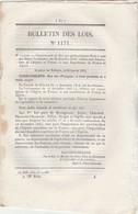 Bulletin Des Lois 1171 De 1845 Pont Suspendu Sur La Rivière De Fontaulière Près Montpézat Ardèche Avec Tarif Péage - Décrets & Lois