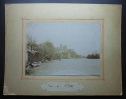 Photographie Ancienne Sur Carton - Béziers - Vallée De L'Orb - Le Moulin Cordier Et La Cathédrale - Lieux