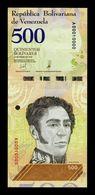 Venezuela 500 Bolívares 15.1.2018 Pick 108a Nice Serial A 00010000 SC UNC - Venezuela
