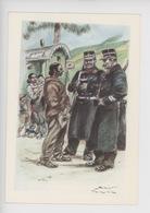 Uniformes Belges, Belgische Uniformen, Gendarmes à Pied Avec Képi  (James Thiriar Illustrateur) Hommage - Uniformen