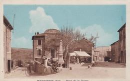 83 /POURRIERES  / PLACE DE LA MAIRIE / ANIMEE / RARE - Other Municipalities