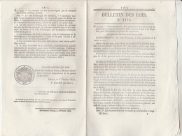 Bulletin Des Lois 1173 De 1845 Extradition Malfaiteurs France Pays Bas - Canal Du Rhône Au Rhin Grue à Huningue - Décrets & Lois