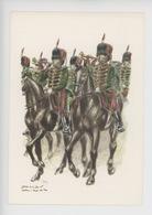Uniformes Belges, Belgische Uniformen, Guides Trompettes 1890  (James Thiriar Illustrateur) Hommage - Uniformen