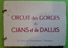 CIRCUIT DES GORGES Du CIANS Et De DALUIS Alpes Maritimes 10 Vues  Photographie Véritable Cachet Chalet Canadien Valberg - Lugares